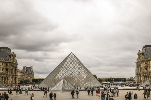 The Louvre on a broody day.